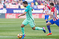 Luis Suarez of Futbol Club Barcelona during the match of Spanish La Liga between Atletico de Madrid and Futbol Club Barcelona at Vicente Calderon Stadium in Madrid, Spain. February 26, 2017. (ALTERPHOTOS) /NortEPhoto.com