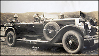 BNPS.co.uk (01202 558833)<br /> Pic: LaceyScott&Knight/BNPS<br /> <br /> British officers travelled in style as the motorcar made its first appearance on the North West Frontier.<br /> <br /> From the far reaches of the British Empire - Remarkable previously unseen photos of a forgotten military campaign has come to light 100 years later.<br /> <br /> The little known Waziristan campaign of 1919 and 1920 saw the British and Indian forces engaged in fierce fighting against Afghan tribesman who invaded northern India.<br /> <br /> However, the conflict, which saw the use of the might of the RAF in targeted bombing raids, has become almost lost to history since it took place just after the Great War.<br /> <br /> The battleground was the rugged, remote, mountainous region which is modern day northern Pakistan, on the southern border of Afghanistan.