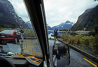 Self portrait at Milford Sound in New Zealand in 1995 while retracing Mark Twain's journey around the world.