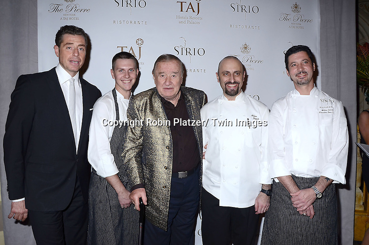 Mario and chefs and Sirio attends the Sirio Ristorante New York opening in the Pierre Hotel, a TAJ Hotel on October 24, 2012 in New York City. Sirio Maccioni hosted the party