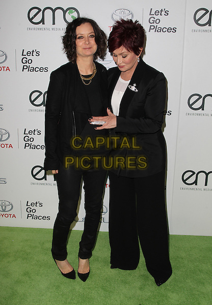 18 October 2014 - Burbank, California - Sara Gilbert, Sharon Osbourne. 24th Annual Environmental Media Awards Presented By Toyota And Lexus Held at The Warner Brothers Studios.   <br /> CAP/ADM/FS<br /> &copy;Faye Sadou/AdMedia/Capital Pictures