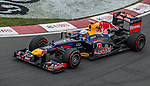 Red Bull Racing driver Sebastian Vettel of Germany speeds his RB8 car during the F1 Grand Prix du Canada at the Circuit Gilles-Villeneuve on June 08, 2012 in Montreal, Canada. Photo by Victor Fraile / The Power of Sport Images