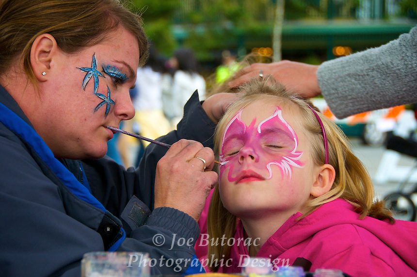 Face Painting, Fort Langley Cranberry Festival Fort Langley B.C.