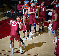 STANFORD, CA - March 14, 2019: Kyle Dagostino, Jaylen Jasper at Maples Pavilion. The #8 Stanford Cardinal fell to the #6 Pepperdine Waves 3-0.