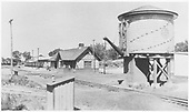 View of D&amp;RGW Farmington station facilities.<br /> D&amp;RGW  Farmington, NM