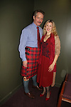 Guiding Light and Another World's David Andrew MacDonald wearing the tartan - Macdonald of Glenaladale as he stars in Charlie's Aunt and poses with his wife Monette on opening night of the play October 27, 2018 at the Shakespeare Theatre of New Jersey. It runs through November 18, 2018. (Photo by Sue Coflin/Max Photo)