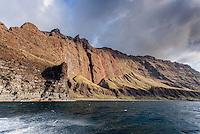 Sea cliffs & mountains along the ocean, Na Pali coast, Kauai