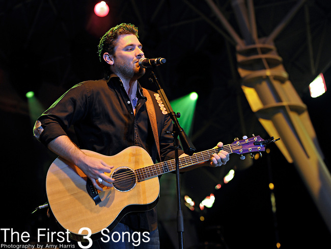 Chris Young performs during the ACM Concerts at Fremont Street Experience Event in Las Vegas, Nevada on April 1, 2011.