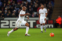Andre Ayew of Swansea during the Barclays Premier League match between Swansea City and Leicester City at the Liberty Stadium, Swansea on December 05 2015