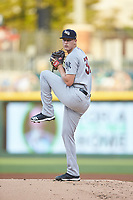Scranton/Wilkes-Barre RailRiders starting pitcher Brian Keller (30) in action against the Charlotte Knights at BB&T BallPark on August 13, 2019 in Charlotte, North Carolina. The Knights defeated the RailRiders 15-1. (Brian Westerholt/Four Seam Images)