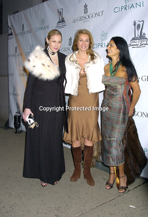Amy Sacco, Frederique van der Wal and ..at The 2005 Wall Street Concert Series benefitting Wall Street Rising on March 15, 2005 at Cipriani. Rod Stewart was performing tonight. ..Photo by Robin Platzer, Twin Images