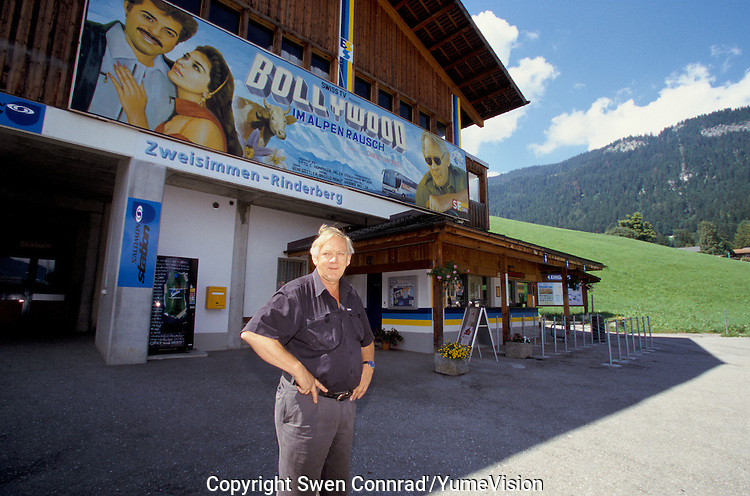 Jakob Tritten logistician for Bollywood film in Zweisimmen Switzerland.Head logistician on the set of ''Live only for you'' a Bollywood film shoot in Germany,  Switzerland, France and India