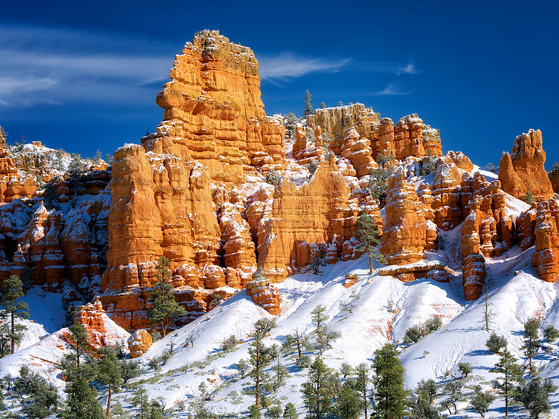 Red Canyon with snow. Utah