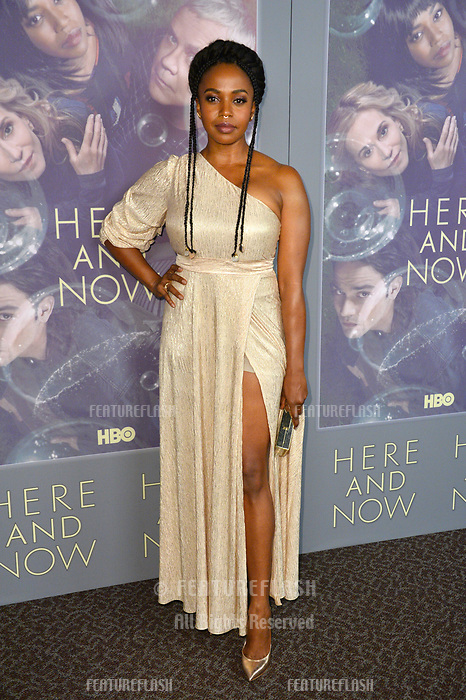 Jerrika Hinton at the premiere for HBO's &quot;Here and Now&quot; at The Directors Guild of America, Los Angeles, USA 05 Feb. 2018<br /> Picture: Paul Smith/Featureflash/SilverHub 0208 004 5359 sales@silverhubmedia.com