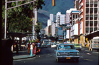 Traffic in Caracass,Venezuela,South America, Caribbean 1976