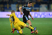 Luca Valzana of Frosinone and Adam Marusic of Lazio compete for the ball during the Serie A 2018/2019 football match between Frosinone and Lazio at stadio Benito Stirpe, Frosinone, February 4, 2019 <br />  Foto Andrea Staccioli / Insidefoto