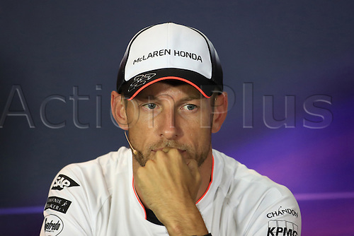 01.09.2016. Monza, Italy. Formula 1 Grand prix of Italy, driver arrival and press conference day.  McLaren Honda – Jenson Button