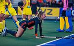 UTRECHT - Maartje Krekelaar (Ned)   tijdens  de Pro League hockeywedstrijd wedstrijd , Nederland-China (6-0) .  COPYRIGHT  KOEN SUYK