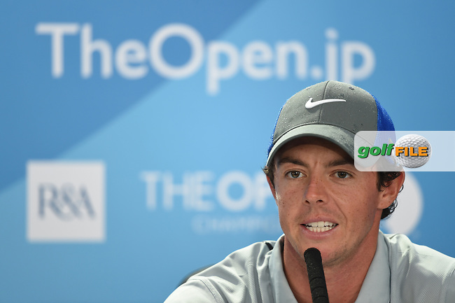 Rory MCILROY (NIR) takes a six shot lead into the final round of The 143rd Open championship Royal Liverpool Golf club, Hoylake, England.: Picture Fran Caffrey www.golffile.ie: 19th July 2014