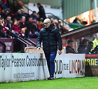 Port Vale manager Neil Aspin <br /> <br /> Photographer Andrew Vaughan/CameraSport<br /> <br /> The EFL Sky Bet League Two - Lincoln City v Port Vale - Tuesday 1st January 2019 - Sincil Bank - Lincoln<br /> <br /> World Copyright &copy; 2019 CameraSport. All rights reserved. 43 Linden Ave. Countesthorpe. Leicester. England. LE8 5PG - Tel: +44 (0) 116 277 4147 - admin@camerasport.com - www.camerasport.com