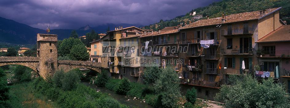 Europe/France/Provence-Alpes-Côtes d'Azur/06/Alpes-Maritimes/Alpes-Maritimes/Arrière Pays Niçois/Sospel:  Le Pont Vieux sur la Béréva