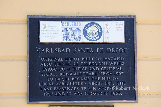 Carlsbad historic train station