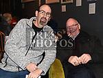 Joe Savage and Joe Kerr at 'It runs in the family' in the Droichead Arts Centre. Photo:Colin Bell/pressphotos.ie