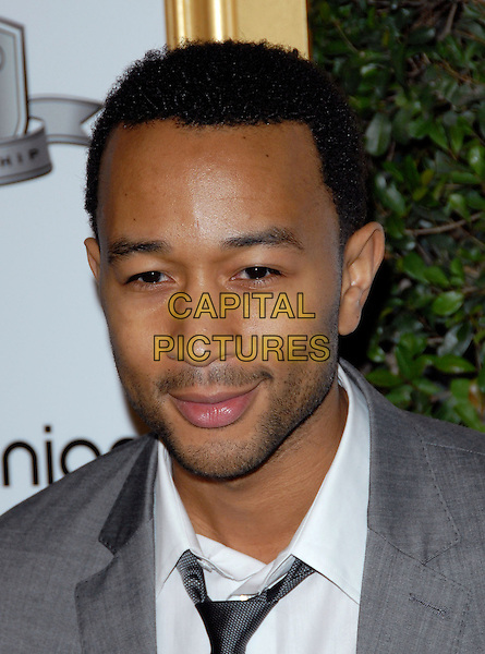 JOHN LEGEND .at The First Annual Data Awards held at The Hollywood Palladium in Hollywood, California, USA, January 29th 2010.                                                                   .arrivals portrait headshot black tie grey gray white shirt beard stubble facial hair .CAP/RKE/DVS.©DVS/RockinExposures/Capital Pictures.