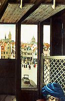 Paintings:  Robert Campin--Flemish City view, 1425.