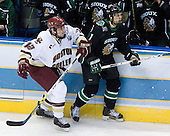 Ben Smith (Boston College - Avon, CT), Zach Jones (University of North Dakota - Lisle, IL)The Boston College Eagles defeated the University of North Dakota Fighting Sioux 6-4 in their 2007 Frozen Four semi-final on Thursday, April 5, 2007, at the Scottrade Center in St. Louis, Missouri.