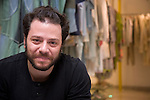 fashion designer Martin Churba in his store Tramando in the Recoleta district of Buenos Aires