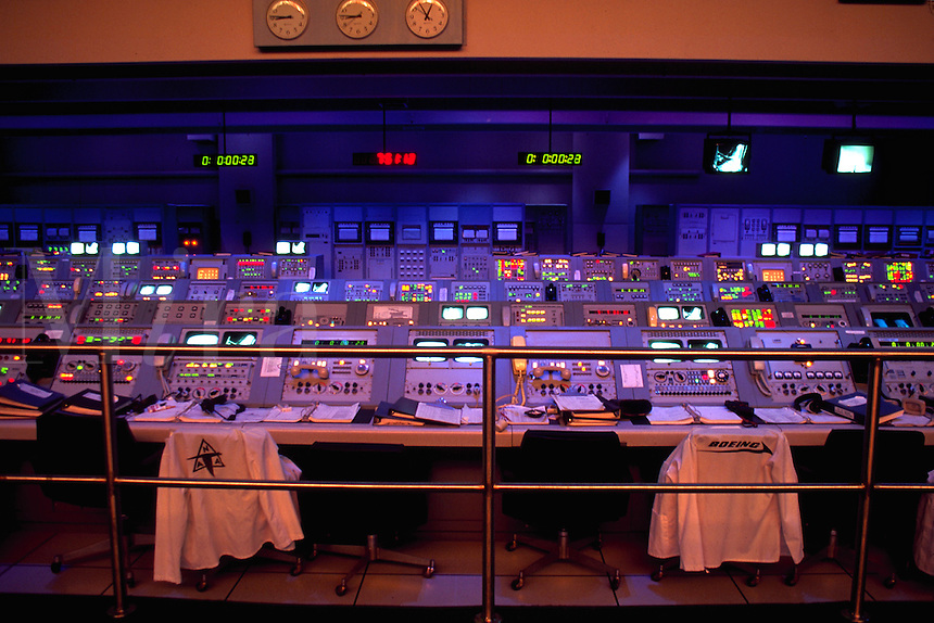 Reconstructed Mission Control Room at Kennedy Space Center