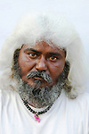 Portrait of a white haired man, India