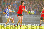 Adrian Spillane Templenoe  in Action Against Jeremiah Hoare Glenbeigh in the Junior County Final at Fitzgerald Stadium Killarney on Sunday.