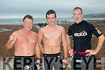 The Niall Harkin, Kieran Lyons and Sean Kenny at the  Ballyheigue Festival Swim on Thursday