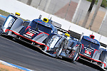 No 2. Audi R18 Leads the No. 1 Audi Ultra during practice at the 2012 12 Hours of Sebring.