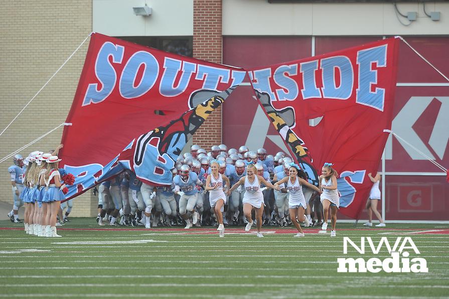 NWA Democrat-Gazette/MICHAEL WOODS &bull; @NWAMICHAELW<br /> Fort Smith Southside vs Alma Tuesday September 1, 2015 at Razorback Stadium in Fayetteville.
