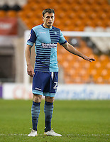 Will De Havilland of Wycombe Wanderers during the The Checkatrade Trophy match between Blackpool and Wycombe Wanderers at Bloomfield Road, Blackpool, England on 10 January 2017. Photo by Andy Rowland / PRiME Media Images.