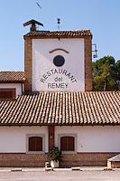 Winery building and restaurant. Castel del Remei, Costers del Segre, Catalonia, Spain.