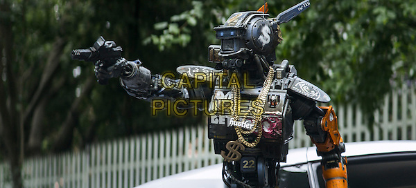 Sharlto Copley<br /> in Chappie (2015) <br /> *Filmstill - Editorial Use Only*<br /> CAP/FB<br /> Image supplied by Capital Pictures