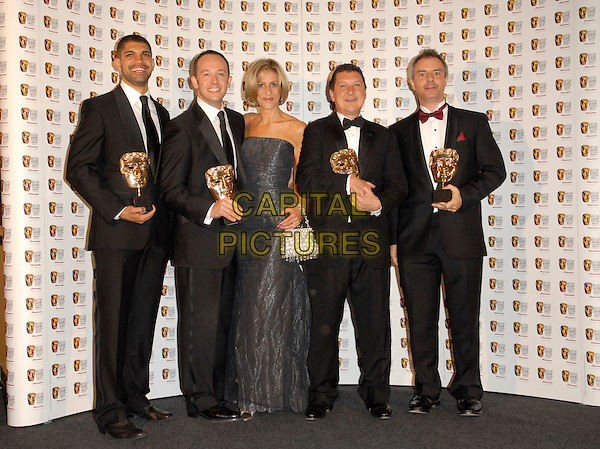 EMILY MAITLIS with the Cast of Terry Pratchett's Hogfather.At The British Academy Television Awards (BAFTA) Sponsored by Pioneer, held at the London Palladium, London, England, May 20th 2007..full length press room awards trophies winners.CAP/FIN.©Steve Finn/Capital Pictures.