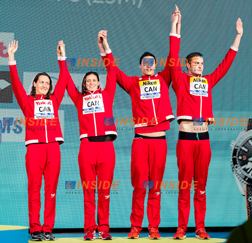 Canada CAN Bronze Medal<br /> KISIL Yuri (M) THORMEYER Markus (M) WILLIAMS Michelle (W) MAINVILLE Sandrine (W) <br /> Mixed 4x50m Freestyle Relay <br /> 13th Fina World Swimming Championships 25m <br /> Windsor  Dec. 7th, 2016 - Day02 Finals<br /> WFCU Centre - Windsor Ontario Canada CAN <br /> 20161207 WFCU Centre - Windsor Ontario Canada CAN <br /> Photo &copy; Giorgio Scala/Deepbluemedia/Insidefoto