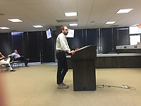 Ethan Hunter, a district planner for the city of Rogers discussed Tuesday at the Rogers City Council  a code change related to the historic district.