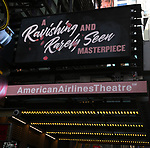 "Theatre Marquee for ""The Rose Tattoo"" starring Marisa Tomei at The American Airlines Theatre on September 24, 2019 in New York City."