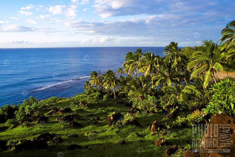 Ke Ahu a Laka Heiau, an historic hula heiau on the north shore of Kauai