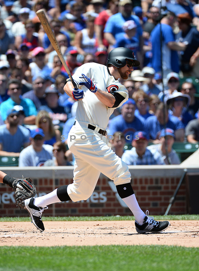 Chicago Cubs Ben Zobrist (18) during a game against the Cincinnati Reds on July 6, 2016 at Wrigley Field in Chicago, IL. The Reds beat the Cubs 5-3.