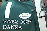 April 12, 2014: #1 Danza's silk in the running of the Arkansas Derby at Oaklawn Park in Hot Springs, AR. Justin Manning/ESW/CSM