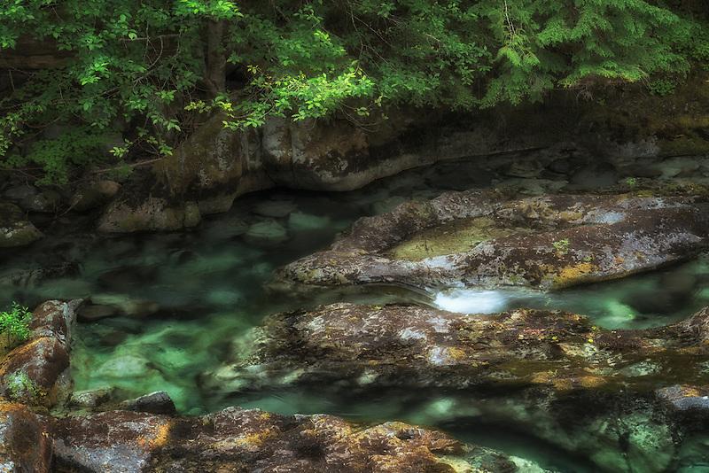 Pools in Opal Creek. Opal Creek wilderness. Willamette National Forest, Oregon