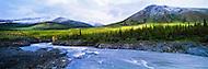 July snowfall on the Firth River, ivvavik National Park, Yukon