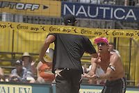 Huntington Beach, CA - 5/5/07:   Karch Kiraly is congratulated by teammate Kevin Wong during Kiraly / K. Wong's  21-17, 21-19 loss to Hyden / Keenan Saturday during the 2007 AVP CROCS Tour in Huntington Beach..Photo by Carlos Delgado